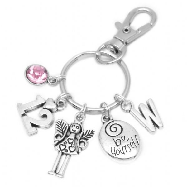 12th Birthday Fairy Charm Keyring Personalised Gift For 12 Year Old